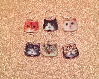 Cat Stitch Markers// Animal Progress Keepers