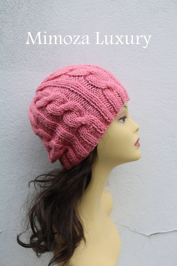 Peach women's Beanie hat, Hand Knitted Hat in peach beanie hat, knitted cap, knitted men's, women's beanie hat, winter beanie, peach ski hat