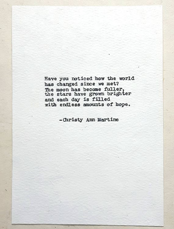 Romantic Gifts for Girlfriend or Boyfriend - Typed by Poet with Vintage Remington Typewriter - Poem