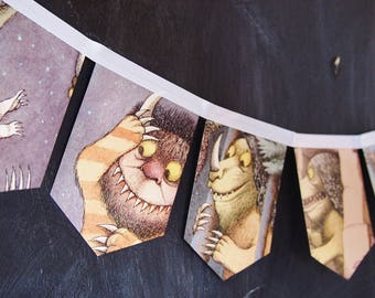 MINIATURE Where the Wild Things are- story book banner