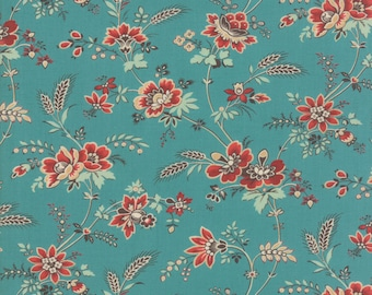 Bohemian Floral in Turquoise - Purebred II by Erin Michael - Moda cotton fabric - half yard or more