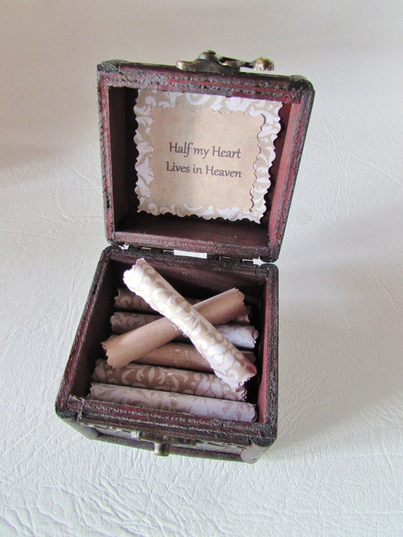 Sympathy Gift Bereavement Gift Grief Gift Memory Scroll Box Sympathy Quotes in Wood Box Loss of Parent Loss of Partner Loss of Husband Wife