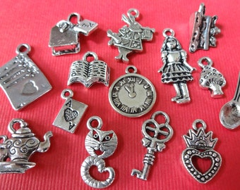 """14 """"Alice"""" Fairy Tale Charm Collection"""