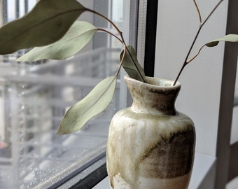 Wood Fired Shino Bud Vase