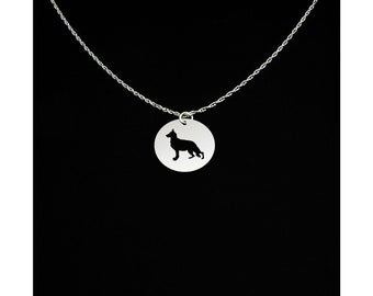 German Shepherd Necklace - Dog Necklace - German Shepherd Gift