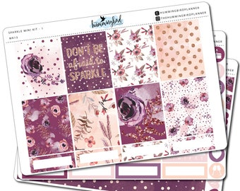 Sparkle Mini Kit | MK13 | Planner Stickers for Erin Condren Vertical Planners - Physical Item | The Hummingbird Planner