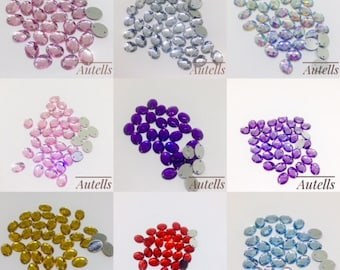 8x10 mm Oval Loose Flat Back /Sew On Crystal Rhinestones / Beads/Scrapbooking /Arts and Crafts