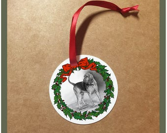 Bloodhound Dog Christmas Ornament