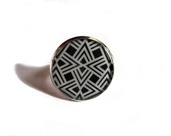 TRIBAL RING - Tribal Jewelry - Ethnic Rings - Wide Tribal Ring - Tribal Jewelry Chunky Ethnic Ring - Sacred Geometry Ring - gypsy ring