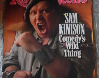 vintage rolling stone magazine issue #546 interview with SAM KINISON FEB 23RD 1989