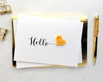 Hello card - Card to say hello - Card to say Hi - Just wanted to say card - Just because card