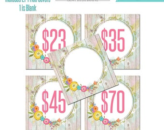Printable Price Cards, Custom Marketing Graphics, Facebook Album Covers, Facebook Sizes Album Cover, Instant Download, Price Tags, Pricing