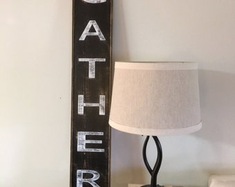 Gather Sign,Fixer Upper Signs,41x7.25, Rustic Wood Signs, Farmhouse Signs, Wall Décor