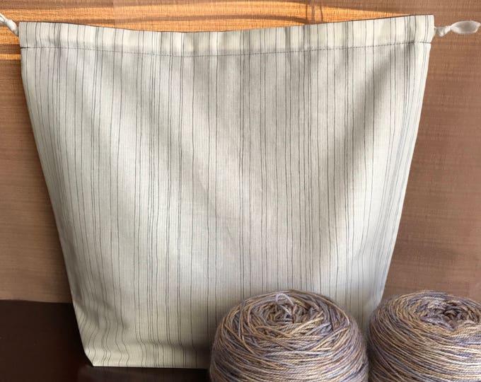 Stripes: Large Drawstring Project bag