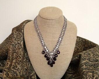 Art Deco Necklace in Amethyst