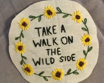 Walk On The Wild Side Lou Reed Inspired Patch