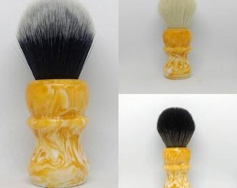 Orange Cream - 24mm Tuxedo, Cashmere, BOSS, or handle only shaving brush