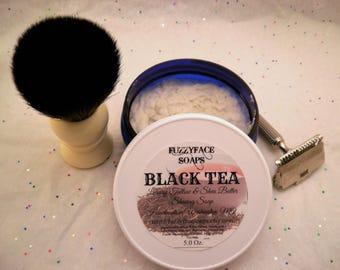 BLACK TEA Luxury Tallow & Shea Butter Shaving Soap 5.0 Oz