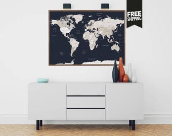 World map, travel poster, Wanderlust, Map of the world, Mapamundi, World travel map, Travel map, World poster, Gift for him, Gift ideas