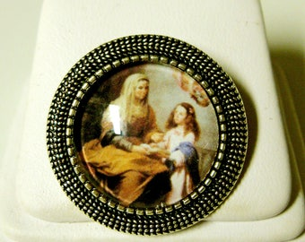 Saint Anne pin/brooch - BR09-023