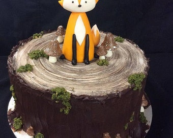 Woodland Fox Cake Topper