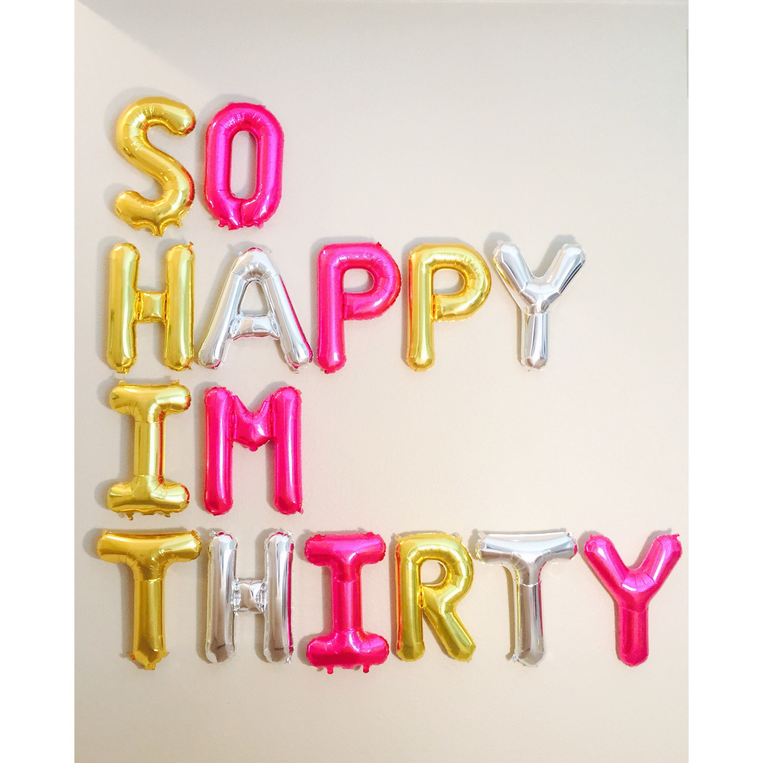 So happy im thirtydirty 30 party dirty 30 30th birthday for 30th birthday decoration packages