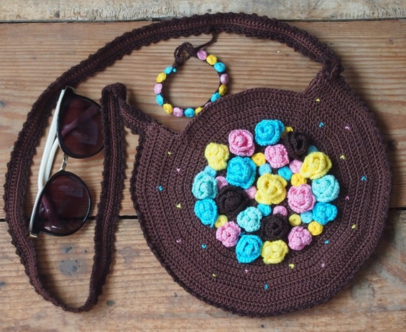 Crochet Bag Patternbag And Bracelet Crochet Pattern With Embroidery