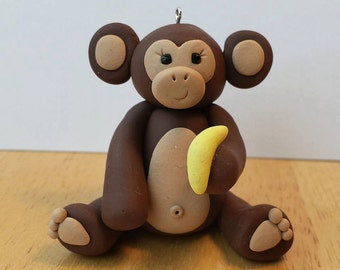 Monkey Ornament with Banana