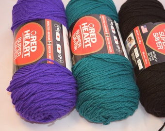 Red Heart Super Saver Acrylic Yarn 198 g in 3 Colors