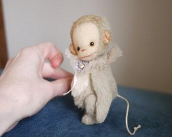 "PDF E-PATTERN for Tiny Viscose Monkey 4.5""- 5"""