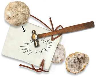 """2 Break Open Geodes - 2"""" to 3"""" geodes -discover your crystal - Moroccan Geodes - hollow crystal center - fun gift - discover yourself gift"""