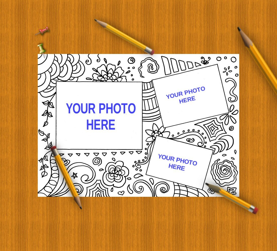 Coloring picture frames photo frames adult kids scrapbooking coloring picture frames photo frames adult kids scrapbooking digital frame colouring pattern template download print print lasoffittadiste from jeuxipadfo Image collections