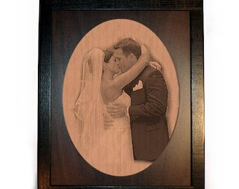 Anniversary Engraved Photo Framed Pyrograph