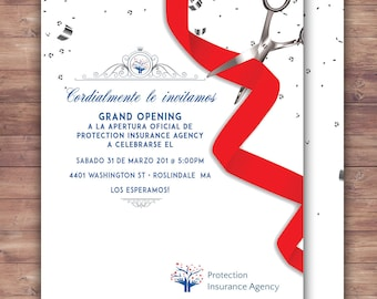 Invitation ribbon etsy grand opening invitation open house ribbon cutting grand opening grand opening party stopboris Gallery