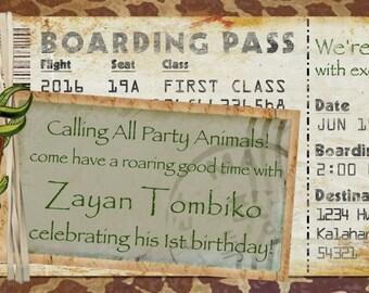 Safari Save The Date Etsy - Bon voyage party invitation template