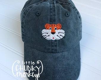 Toddler Kid Hat - Tiger on Navy