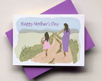 Mother's Day Card - Mom & Daughter