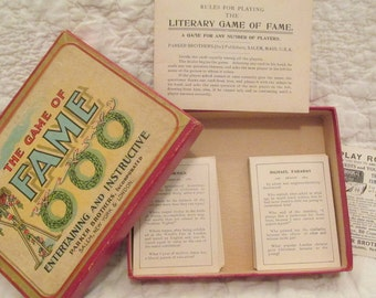 Vintage The Game of Fame Parker Brothers Game with Instructions SALE
