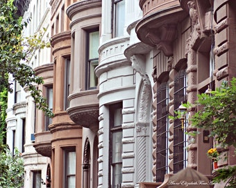New York Photography, Fine Art, Urban, Dorm Decor, Kitchen Art, Hipster, Brownstone, Manhatten, Architecture, Earthy Tones, Brown, Grey