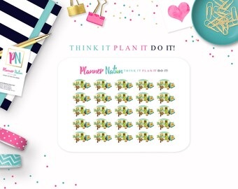Camper Planner Stickers - RV Planner Stickers Vacation Planner Stickers  Erin Condren, Filofax, Plum Planner, Kikki K Happy Planner