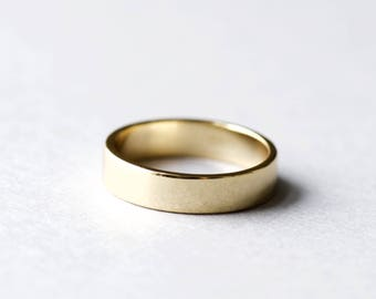 14k Yellow Gold Plated Band, Plain Band, Wedding Band, Minimalist Ring, Promise Ring, Gold Ring, Dainty Ring, Rose and Choc