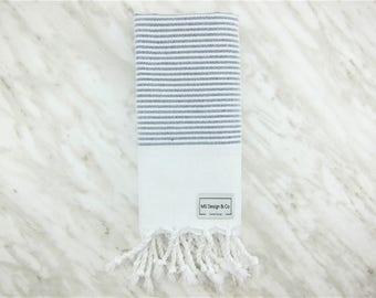 Turkish Towel, Turkish Peshtemal Towel, Turkish Hand Towel, Hamam Towel, Hand Towel, Kitchen Towel,  Bridesmaid, Wedding Gift, Travel,