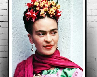 Frida kahlo, Home decor,  Frida kahlo poster, Frida kahlo poster, Frida kahlo photography, Frida kahlo print art, large format. wall art