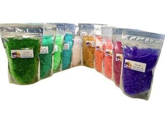 10 (Ten) 1 lb Bath Salts  Floral Aromatherapy Scents