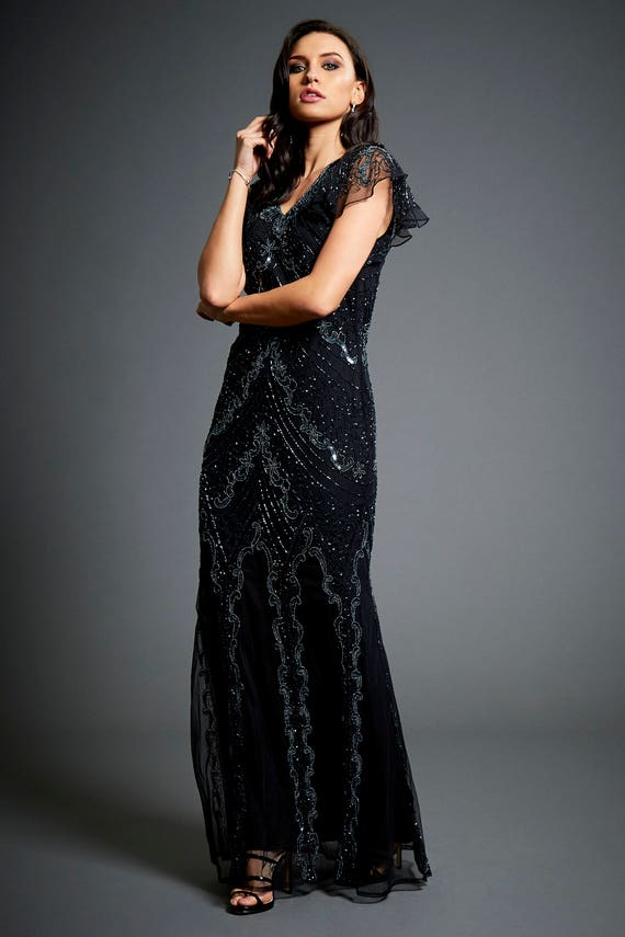 Dame Embellished Flapper 1920s Great Gatsby Inspired Downton