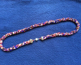 Beademd necklace, beats of glass, multicolored.