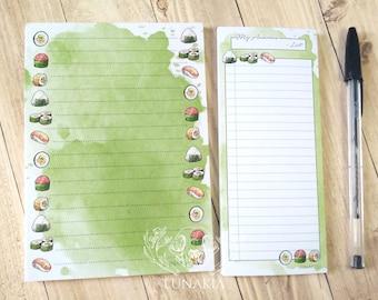 Sushi Note Pad Shoppig List