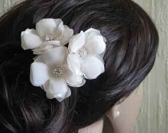 Champagne hair flower Cream wedding flower Champagne hair flower Champagne wedding Champagne accessory Cream wedding Cream headpiece