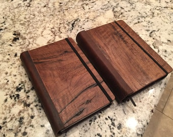 Moleskine Notebook Cover - Real wood and Leather - Made in USA