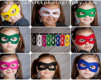 Custom Superhero Mask, Reversible Super Hero Mask, Choose any Color Combination